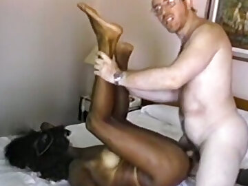 Freaky grotesque lacklustre lady's man bangs young and well done ebony babe